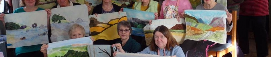 Group of Ladies at the Quilting Retreat in Beer, Devon