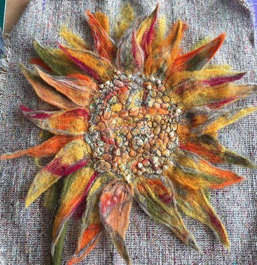 Felted Sun Flower