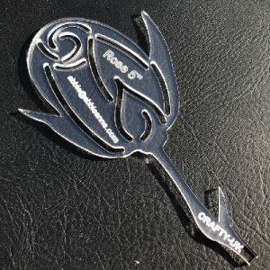 Rose acrylic template