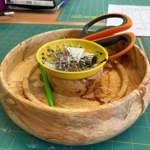Wood Turned Sewing Items