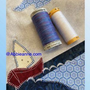 Blue and white thread pack