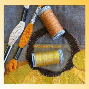 Orange thread pack